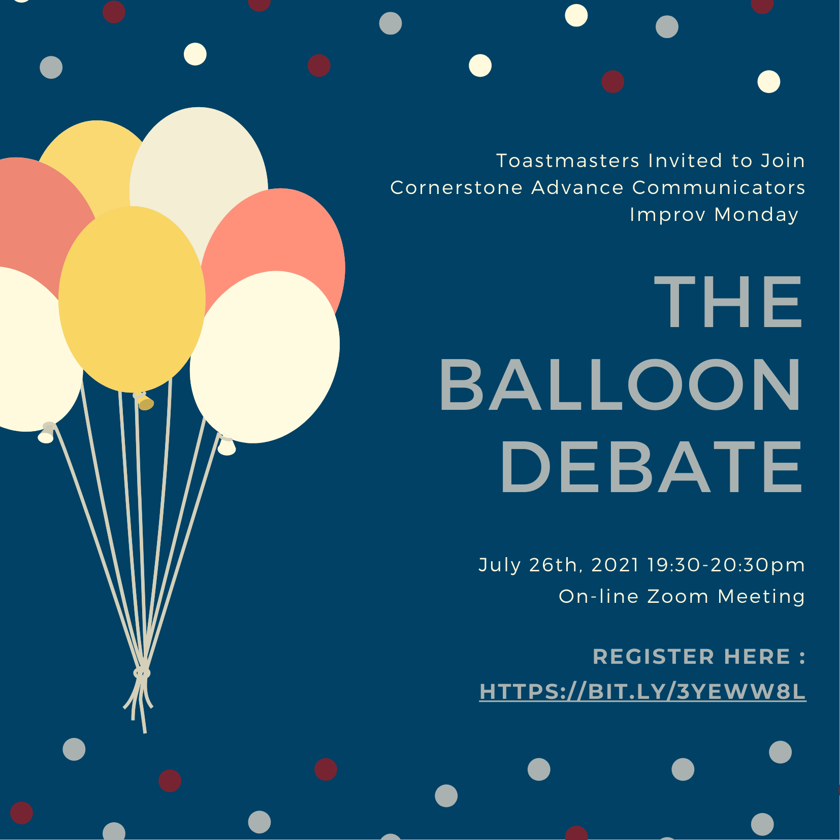 Improv night - The Balloon Debate